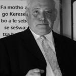 Peter Völzing im August 2003 in Werda, Botswana, im Gottesdienst zum 20-jährigen Bestehen der Partnerschaft zwischen dem Südwestlichen Kirchenkreis der Evangelisch-Lutherischen Kirche in Botswana und dem Kirchenkreis Simmern-Trarbach. Foto: Niko Wald